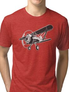 Retro fighter plane Tri-blend T-Shirt