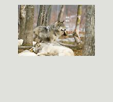 Watchful Timber Wolf Unisex T-Shirt