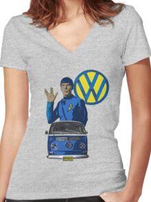 Spock ride VW Women's Fitted V-Neck T-Shirt