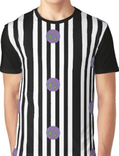 Beetlejuice in Stripe Graphic T-Shirt