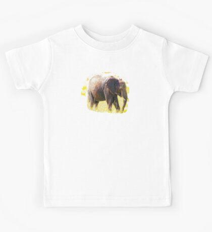 Elephant - Walking The Fields Of Africa Kids Tee