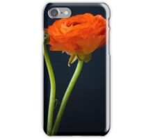 Red ranunculus flower head. iPhone Case/Skin