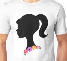 Flower Crown Necklace Girl Silhouette Unisex T-Shirt