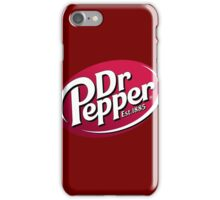 Everyone knows smart people drink Dr. Pepper. iPhone Case/Skin