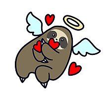 Sloth Valentine Angel Photographic Print