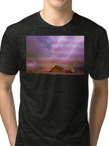 American Country Stormy Night Tri-blend T-Shirt