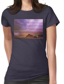 American Country Stormy Night Womens Fitted T-Shirt