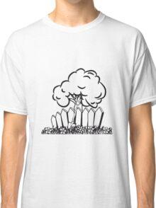 Garden flowers fence shovel tree Classic T-Shirt