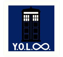 Police Box Yoloo Infinite Art Print