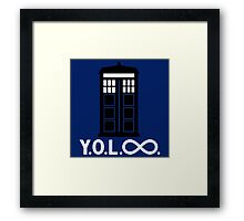 Police Box Yoloo Infinite Framed Print