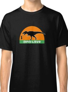 Little girl and dinosaur Classic T-Shirt