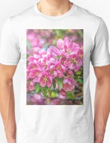 Crabapple blossoms - painted Unisex T-Shirt