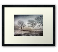Moon Barn Framed Print