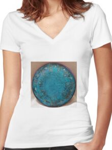 Aquareon Women's Fitted V-Neck T-Shirt
