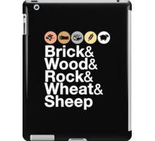 Helvetica Settlers of Catan: Brick, Wood, Rock, Wheat, Sheep | Board Game Geek Ampersand Design iPad Case/Skin