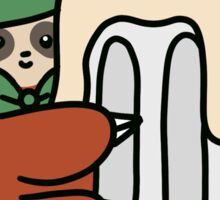 St. Patrick's Day Sloth Sticker