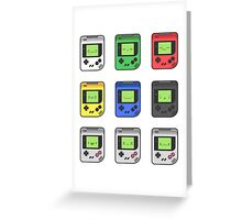 Game Boy Faces Greeting Card