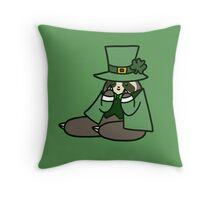 Leprechaun Sloth Throw Pillow