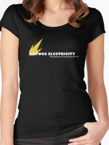Zapdos Electricity Service - Poke Shop Series Women's Fitted Scoop T-Shirt