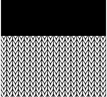 Chevrons Knit Style Photographic Print