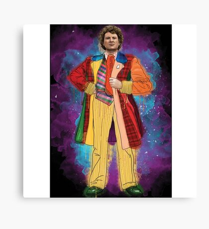 Colin Baker as Doctor Who Canvas Print