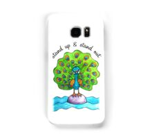 Stand Up & Stand Out: Whimsical Cute Peacock Watercolor Illustration Samsung Galaxy Case/Skin