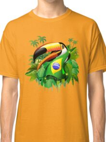 Toco Toucan on Brazil Flag Classic T-Shirt