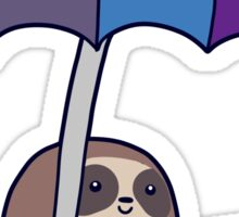 Sloth Rain Umbrella Sticker