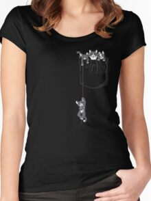 Pocket cat / Pocket Kittens Women's Fitted Scoop T-Shirt