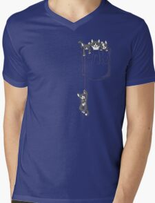 Pocket cat / Pocket Kittens Mens V-Neck T-Shirt