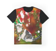 Cat In Xmas Cookie Hat Graphic T-Shirt