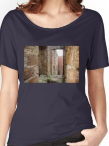New Slains Castle Inside View (Cruden Bay, Aberdeenshire, Scotland) Women's Relaxed Fit T-Shirt