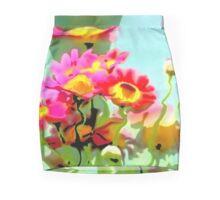 My digital water flowers Mini Skirt