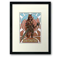 Barbarian Nouveau Framed Print