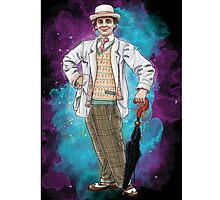 Sylester Mccoy as Doctor Who Photographic Print