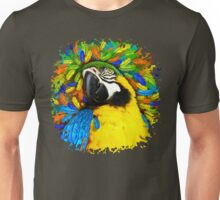 Gold and Blue Macaw Parrot Fantasy Unisex T-Shirt