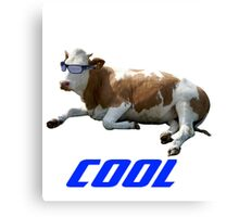 Cool Cow with Sunglasses Canvas Print
