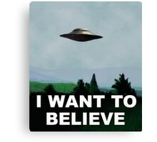 x files i want to believe Canvas Print