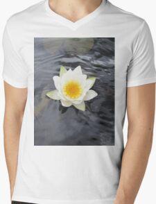 Water lily flower Mens V-Neck T-Shirt