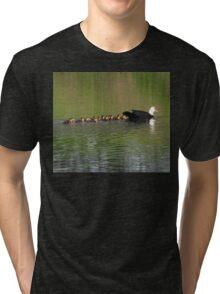 Mom & her kids Tri-blend T-Shirt