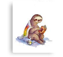 Cozy Sloth Canvas Print