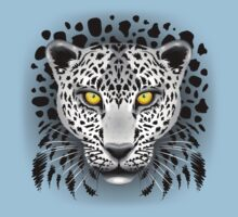 White Leopard with Yellow Eyes Baby Tee
