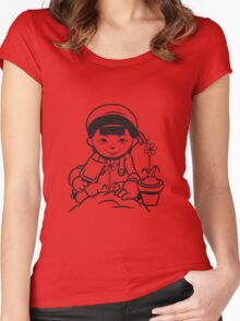 plant garden flowers Women's Fitted Scoop T-Shirt