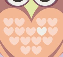 OWL WITH HEARTs Sticker