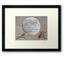 Poem and images Framed Print