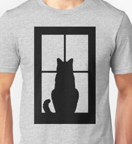 Window Cat Unisex T-Shirt