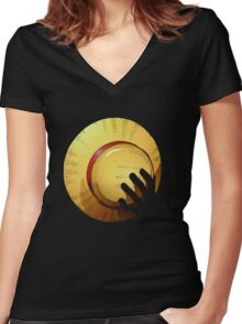 Straw hat Women's Fitted V-Neck T-Shirt