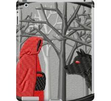 Red Riding Hood Meets the Wolf iPad Case/Skin