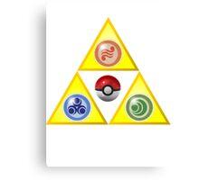 Zelda Triforce Wind Waker/ Pokemon Canvas Print