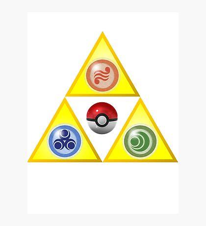 Zelda Triforce Wind Waker/ Pokemon Photographic Print
